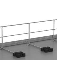 Système de garde-corps de sécurité pour toiture-terrasse inaccessible au public