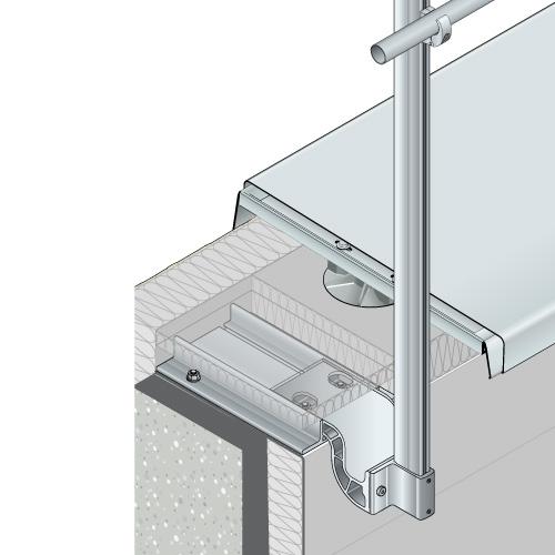 dani alu garde corps aluminium barrial fixe toiture terrasse inaccessible protection chute. Black Bedroom Furniture Sets. Home Design Ideas