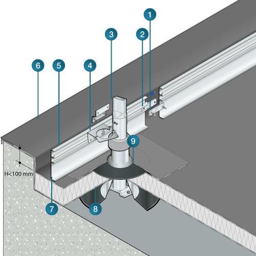 Dani Alu Garde Corps Aluminium Barrial Fixe Toiture Terrasse