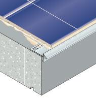 Profilés pour arrêt de carrelage et protection de nez de balcon