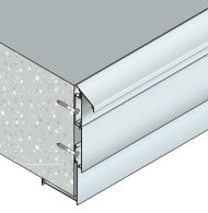 Système d'habillage réglable pour la protection de nez de balcon