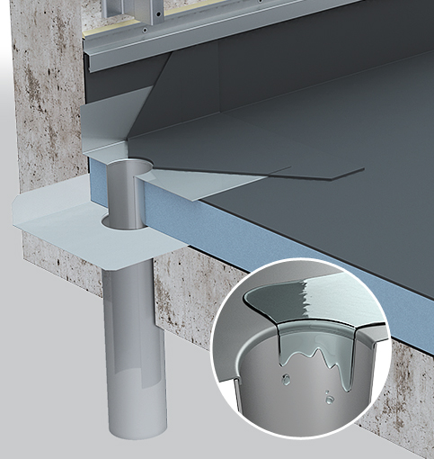 evacuation eaux pluviales toit terrasse vacuation d 39. Black Bedroom Furniture Sets. Home Design Ideas
