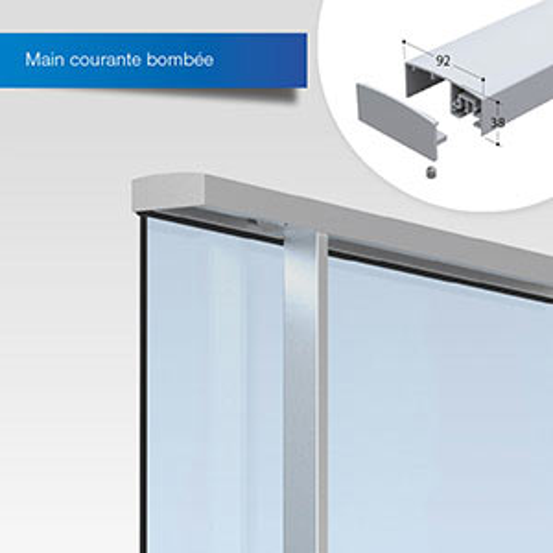 dani alu panorama garde corps aluminium pour balcon. Black Bedroom Furniture Sets. Home Design Ideas