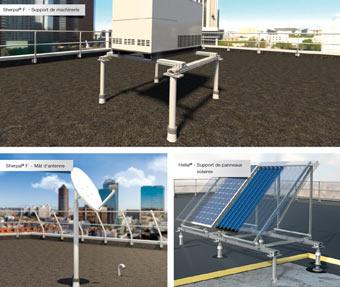 dani alu sherpal f structure support aluminium quipement technique toiture terrasse. Black Bedroom Furniture Sets. Home Design Ideas